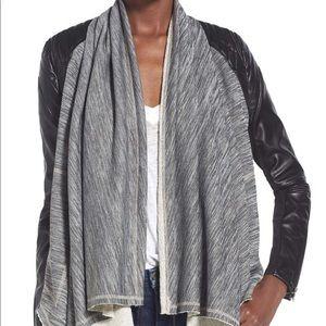BlankNYC Dating & Waiting Drape Front Jacket NWOT